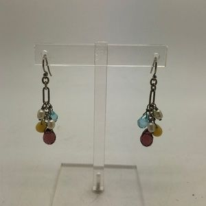 Silpada Pearl Colorful Glass 925 Earrings